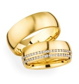 Christian Bauer Wedding Rings 18 Carat Yellow Gold 59 Brilliants [246737 / 270959]