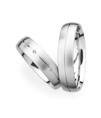 Christian Bauer Wedding Rings 14 Carat White Gold 3 Brilliants [34050 / 34050]