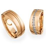 Christian Bauer Wedding Rings 18 Carat Rose Gold 38 Brilliants