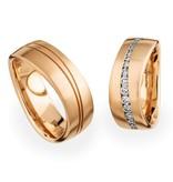 Christian Bauer Wedding Rings 18 Carat Rose Gold 38 Brilliants [246801 / 274116]