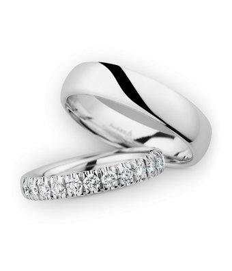 Christian Bauer Wedding Rings 14 Carat White Gold 13 Brilliants [246976 / 280098]