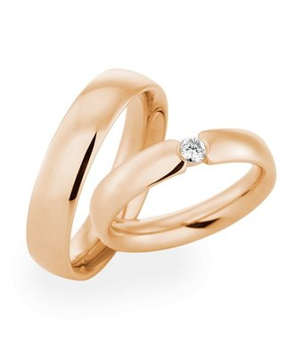 Christian Bauer Wedding Rings 18 Carat Rose Gold 1 Brilliant [241453 / 270571]