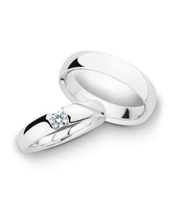 Christian Bauer Wedding Rings 14 Carat White Gold 1 Brilliant [241600 / 280063]