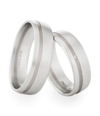 Christian Bauer Wedding Rings 950 Platina / 18 Krt. White Gold 1 Brilliant [241218 / 273537]