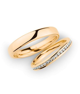 Christian Bauer Wedding Rings 14 Carat Rose Gold 43 Brilliants [246975 / 280096]