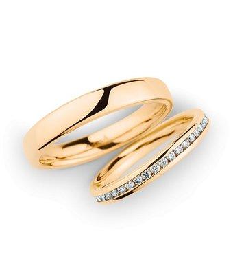 Christian Bauer Wedding Rings 14 Carat Rose Gold 43 Brilliants [246975 / 280096]