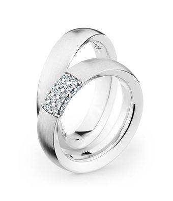 Christian Bauer Wedding Rings 18 Carat White Gold 25 Brilliants [246922 / 280066]