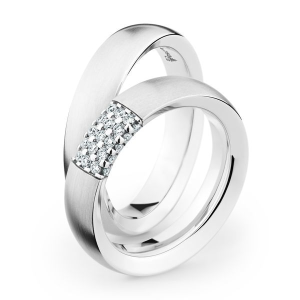 Wedding Rings 18 Carat White Gold 25 Brilliants