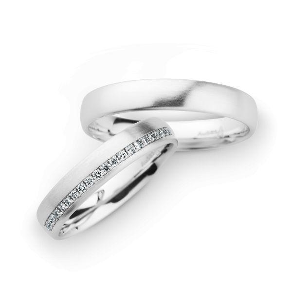 Wedding Rings 14 Carat White Gold 20 Brilliants