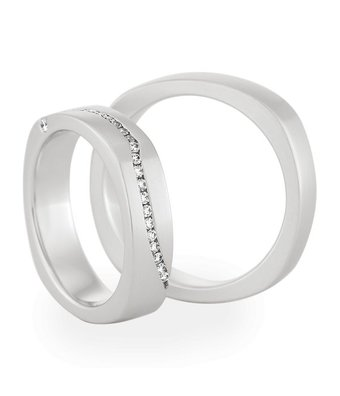 Christian Bauer Wedding Rings 18 Carat White Gold 24 Brilliants