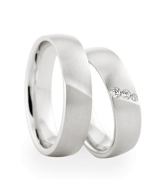 Christian Bauer Wedding Rings 18 Carat White Gold 3 Brilliants [243597 / 274067]
