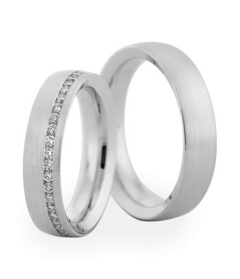 Christian Bauer Wedding Rings 18 Carat White Gold 44 Brilliants [246828 / 280007]