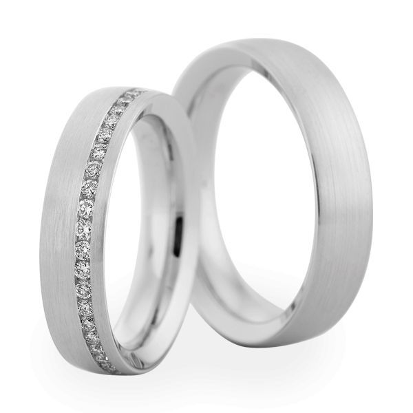 Wedding Rings 18 Carat White Gold 44 Brilliants
