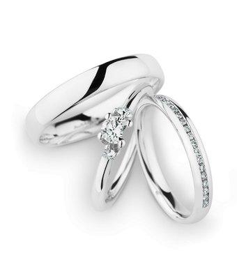 Christian Bauer Wedding Rings 14 Carat White Gold 18 Brilliants [246965 / 143160 / 20040]