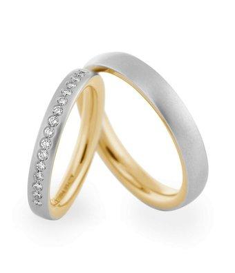 Christian Bauer Wedding Rings 950 Platina / 18 Krt. Yellow Gold 16 Brilliants [246635 / 273867]