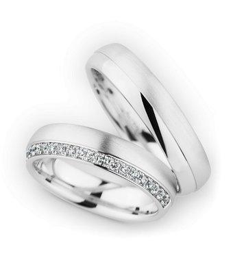 Christian Bauer Wedding Rings 18 Carat White Gold 20 Brilliants [246867 / 274257]
