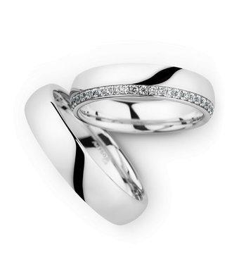 Christian Bauer Wedding Rings 18 Carat White Gold 48 Brilliants [246899 / 270540]