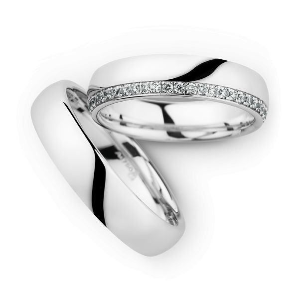 Wedding Rings 18 Carat White Gold 48 Brilliants