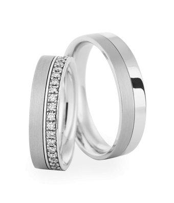 Christian Bauer Wedding Rings 18 Carat White Gold 38 Brillanten [246621 / 273857]