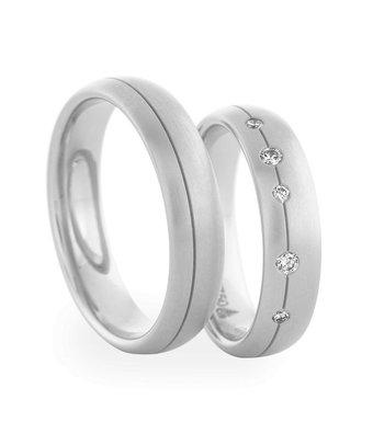 Christian Bauer Wedding Rings 950 Palladium 5 Brilliants[244620 / 273889]