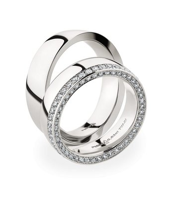 Christian Bauer Wedding Rings 950 Platina 88 Brilliants [0246903 / 0280060]