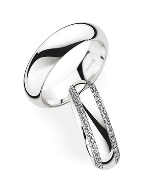 Christian Bauer Wedding Rings 950 Platina 82 Brilliants [246851 / 280034]