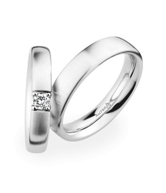 Christian Bauer Wedding Rings 18 Carat White Gold 1 Brilliant [241519 / 270980]