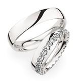 Christian Bauer Wedding Rings 950 Platina 28 Brilliants