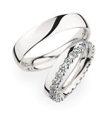 Christian Bauer Wedding Rings 950 Platina 28 Brilliants [0246734 / 0270957]