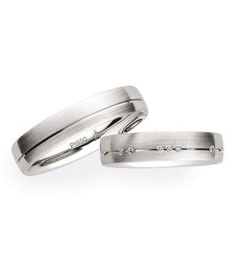 Christian Bauer Wedding Rings 950 Platinum 16 Brilliants [246588 / 273680]