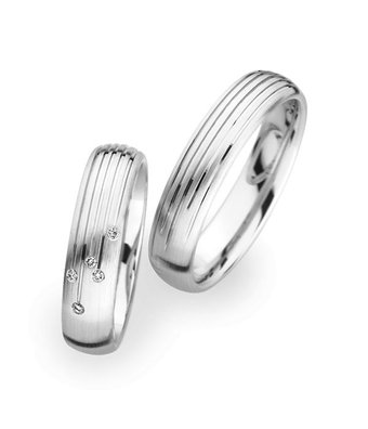 Christian Bauer Wedding Rings 18 Carat White Gold 5 Brilliants [244582 / 273699]