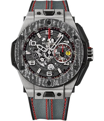 Hublot Horloge Big Bang Ferrari 45mm Titanium Carbon 401.NJ.0123.VR