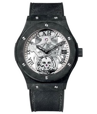Hublot Horloge Classic Fusion 45mm Skeleton Tourbillon Skull 505.UC.0170.VR.SKULL