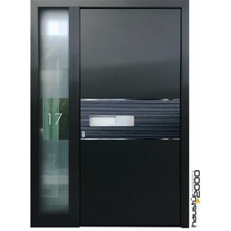 Aluminum door model D267 BFD SF