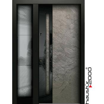 Aluminium Haustür HT 5417.4 GL SF NATURSTEIN SILVER GREY