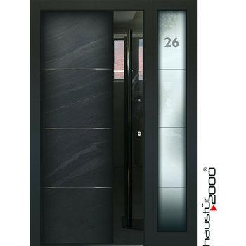 Haustür2000 Aluminium Haustür HT 5449 HL SF Naturstein