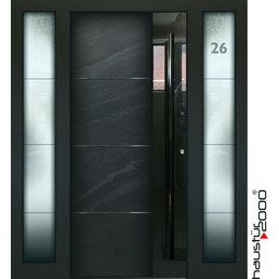 Haustür2000 Aluminium Haustür HT 5449 HL SFF Naturstein