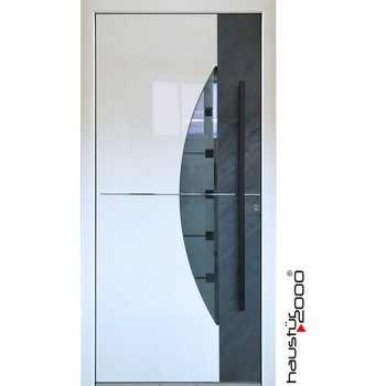 Aluminium Haustür mit echtem NATURSTEIN HT 1007 FD SOFORT VERGÜGBAR
