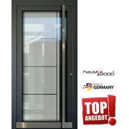 Haustür2000 AKTION!!! Aluminium Haustür HT 5410 GLA mit eingelegter 3-fach Ganzglasfüllung