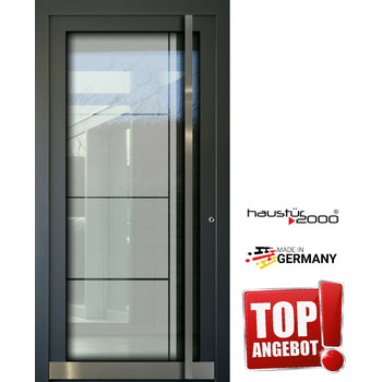 Haustür2000 AKTION!!! Aluminium Haustür HT 5410 GLA mit eingelegter 3-fach Ganzglasfüllung - Copy