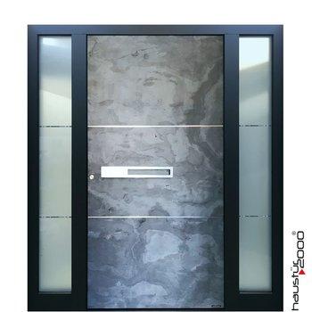 Haustür2000 Aluminium Haustür HT 5417.9 GL SFF Naturstein