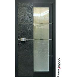 Haustür2000 Aluminium Haustür HT 6550 HL Naturstein Silver Grey