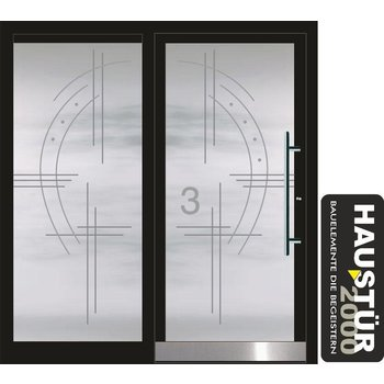 Aluminium door HT 5486 GLA SF