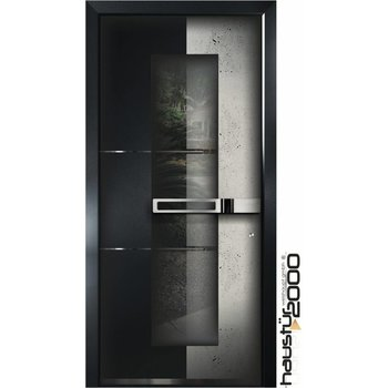 Aluminium door HT 6598 FA CONCRETE ART