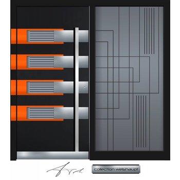 Aluminum door CW 456 SF