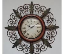 Hettich Uhren Wohn Design Uhr Neu aus Schmiedeeisen mit Quarzwerk Aufwendig gearbeitete Wanduhr im klassichen Stil mit Quarzwerk Größe : 65x35cm HT02053