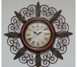 Hettich Uhren Nieuwe home design klok smeedijzeren wandklok met quartz uurwerk Ingewikkeld gemaakt in de klassieke stijl met quartz uurwerk Afmetingen: 65x35cm HT02053