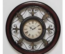 Hettich Uhren New home design clock wrought iron wall clock with quartz movement Intricately crafted in the classic style with quartz movement Size: 38x97cm high Nr.HTO2264