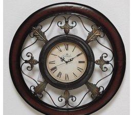 Hettich Uhren Wohn Design Uhr Neu aus Schmiedeeisen- mit Quarzwerk Aufwendig gearbeitete Wanduhr im klassichen Stil  mit Quarzwerk Größe : 38x97cm hoch Nr,HTO2264