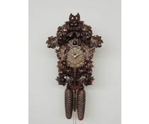 Hettich Uhren Orginal Schwarzwälder Kuckucksuhr mit 8 Tage Rechenschlagwerk 33cm hoch und 23 cm breit